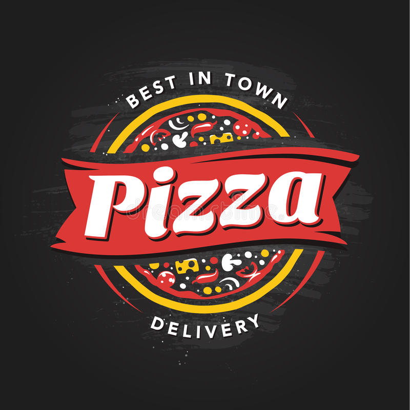 Pizzeria wektoru emblemat royalty ilustracja
