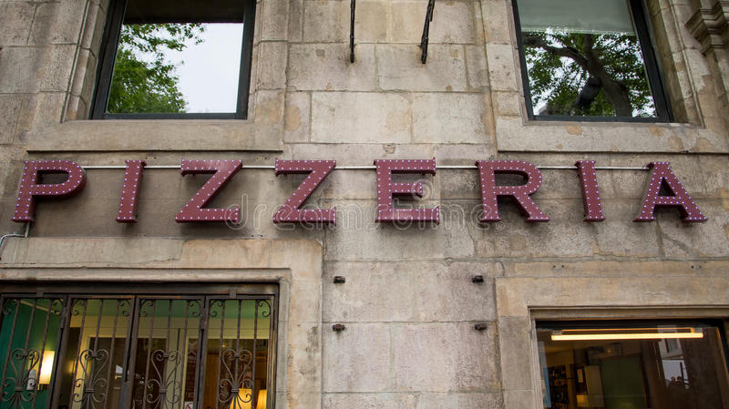 Pizzeria znak zdjęcie royalty free
