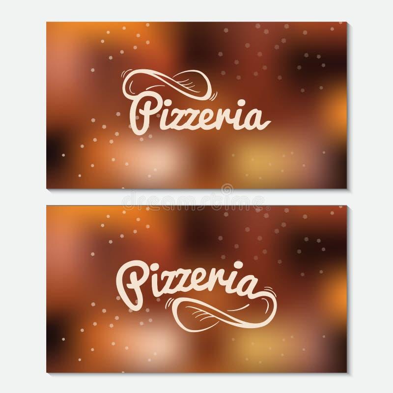Pizzerian räcker utdragen bokstäverlogo finansiell serie för affärskort