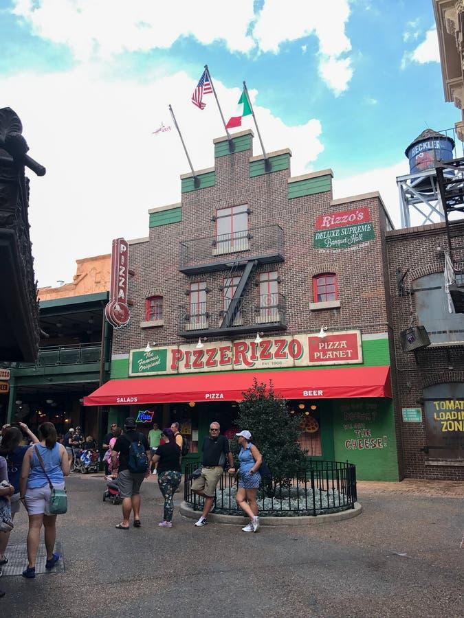 PizzeRizzo w Disney ` s Hollywood studiach w Orlando, Floryda obraz royalty free