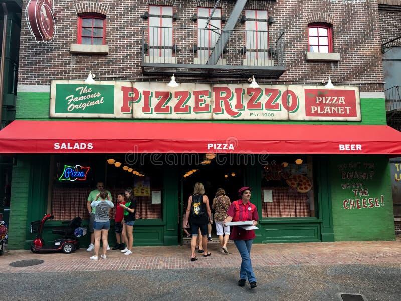 PizzeRizzo w Disney ` s Hollywood studiach w Orlando, Floryda zdjęcia stock