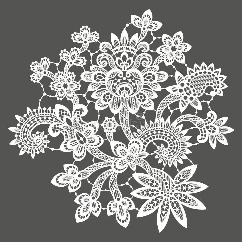 Pizzo bianco di vettore Albero del fiore della clip art royalty illustrazione gratis
