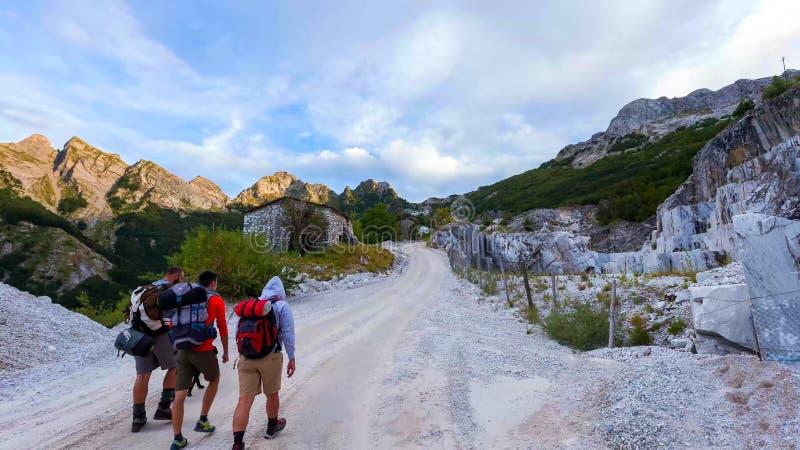 Pizzo d «Uccello, Apuan Alps natury park, Tuscany, Włochy obraz stock