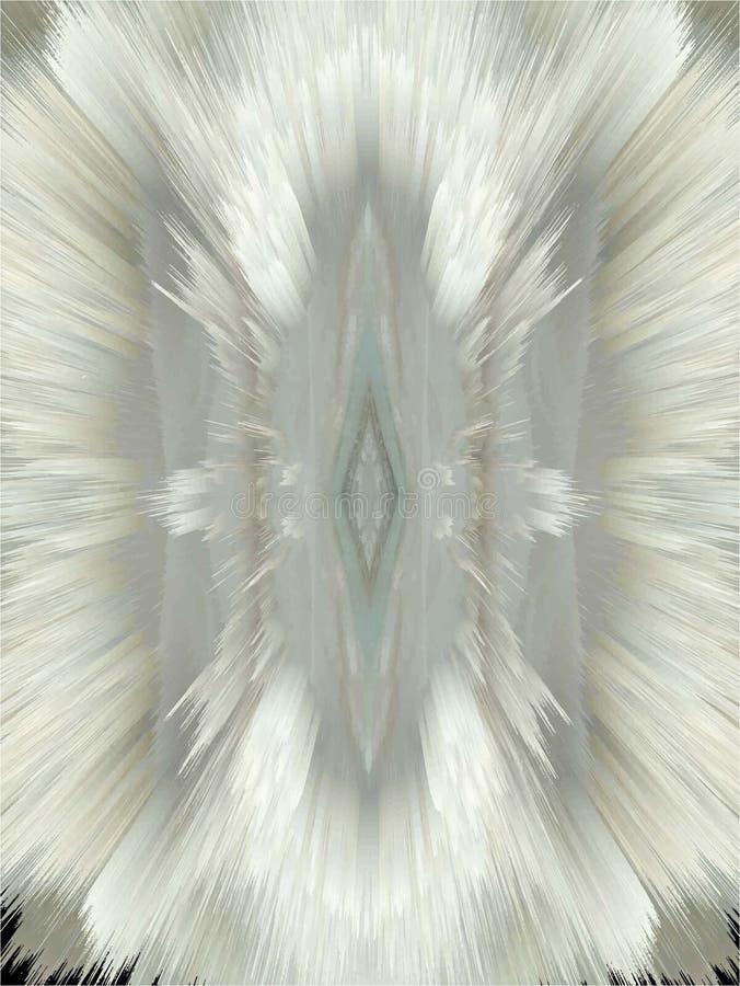 Pizzo lanuginoso della neve illustrazione vettoriale