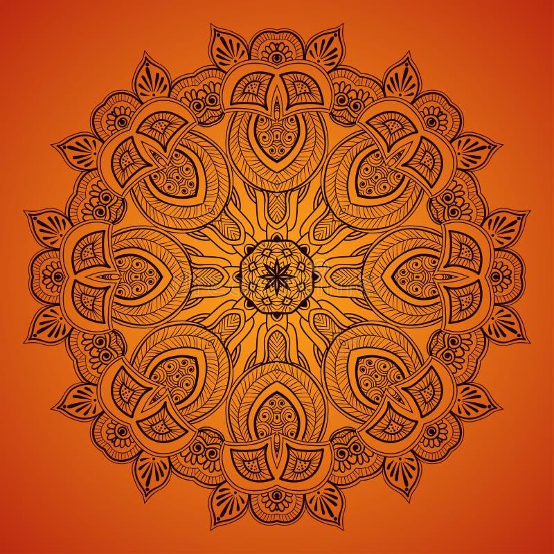 Pizzo rotondo ornamentale pattern_1 illustrazione vettoriale