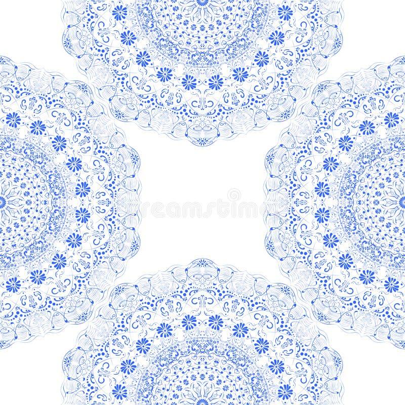 Pizzo scolpito blu senza cuciture di struttura fotografie stock libere da diritti