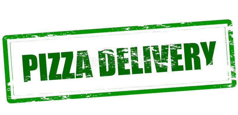 Pizzy dostawa royalty ilustracja