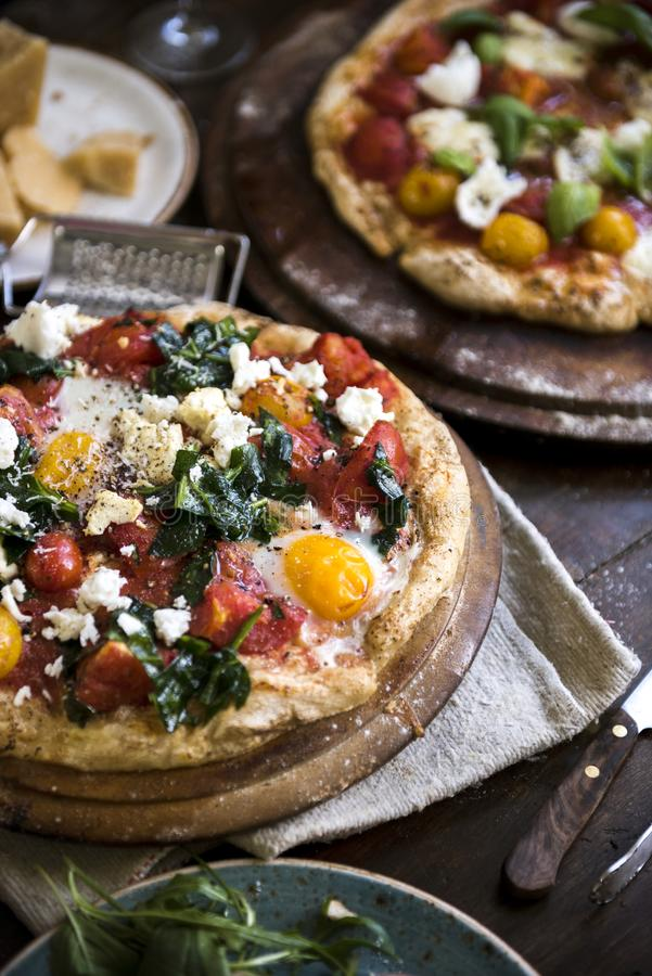 Pizzy fotografii przepisu karmowy pomysł zdjęcie royalty free