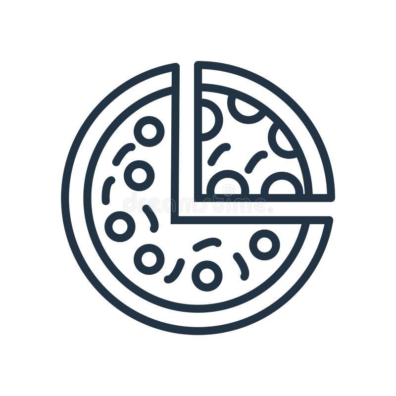 Pizzy ikony wektor odizolowywający na białym tle, pizza znak ilustracji