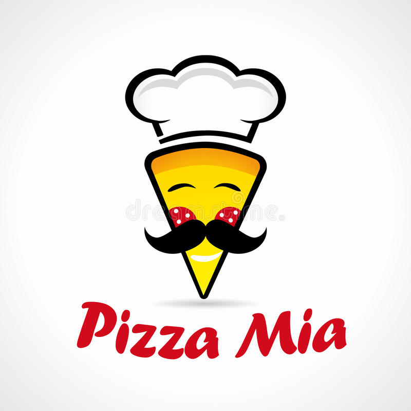 Pizzy Mia logo royalty ilustracja