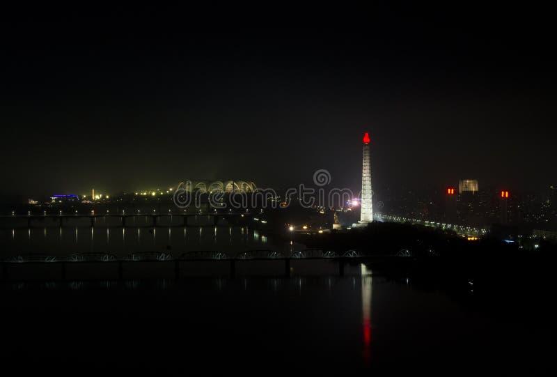 Pjöngjang nachts. stockfoto