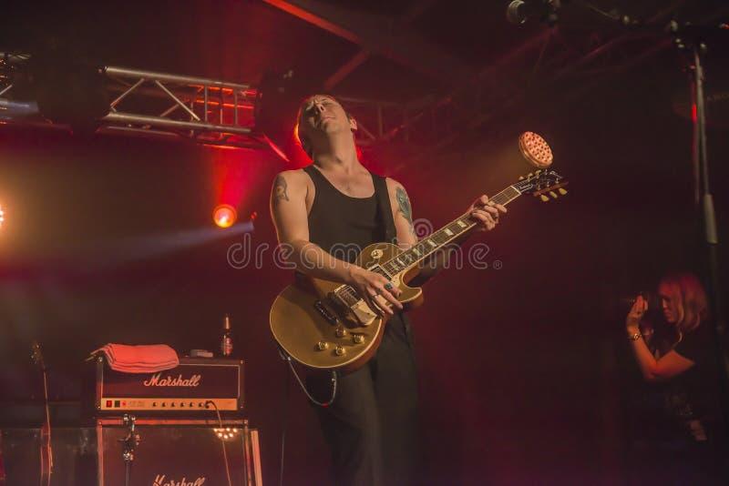 PJ Barth joue la guitare image libre de droits