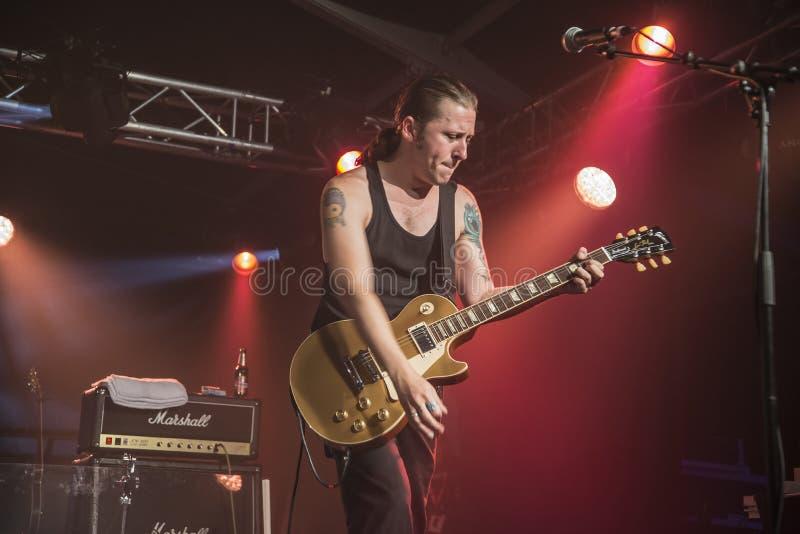 PJ Barth joue la guitare photo libre de droits