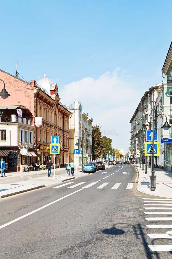 Pjatnitskaya ulica w Moskwa po odbudowy zdjęcie royalty free