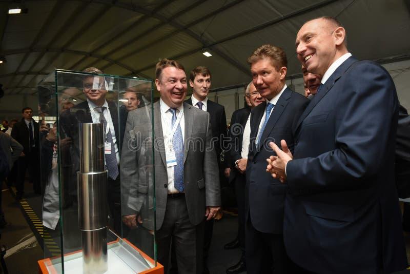 PJSC俄罗斯天然气工业股份公司A管理理事会的主席  磨工 库存照片