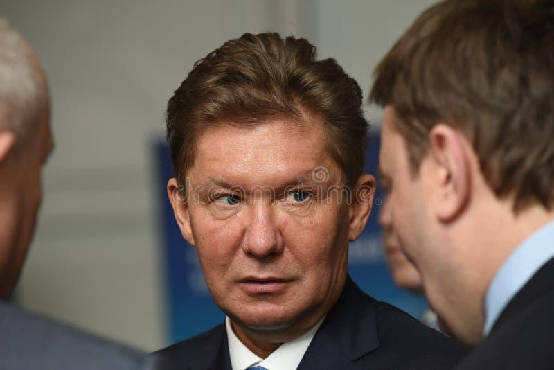 PJSC俄罗斯天然气工业股份公司A管理理事会的主席  磨工 图库摄影