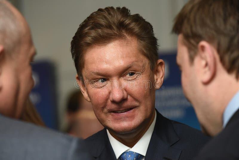 PJSC俄罗斯天然气工业股份公司A管理理事会的主席  磨工 免版税库存图片
