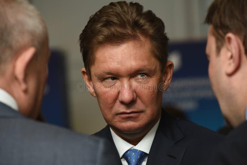 PJSC俄罗斯天然气工业股份公司A管理理事会的主席  磨工 库存图片