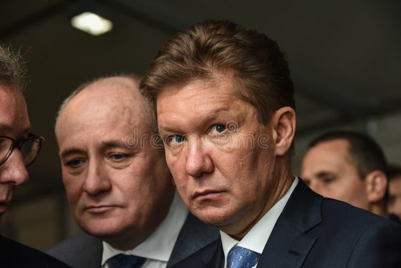 PJSC俄罗斯天然气工业股份公司A管理理事会的主席  磨工 免版税图库摄影