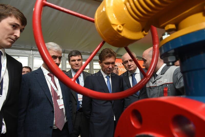 PJSC `力量机器` PJSC俄罗斯天然气工业股份公司A管理理事会的主席  磨工 免版税库存图片