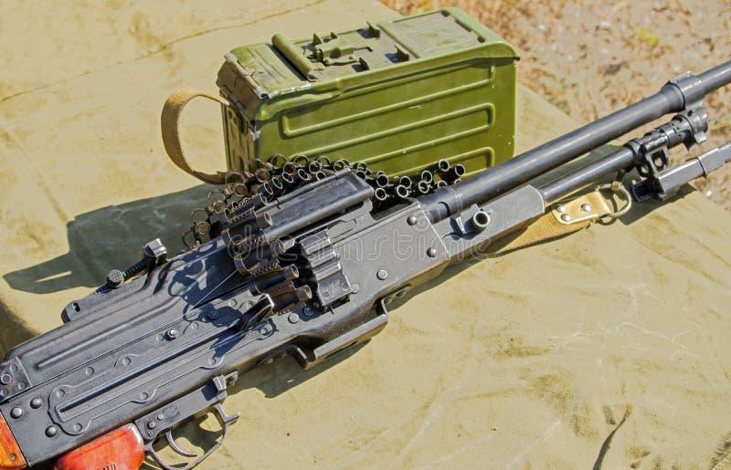 PK Machinegeweer stock afbeeldingen