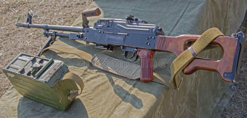 PK Machinegeweer stock afbeelding