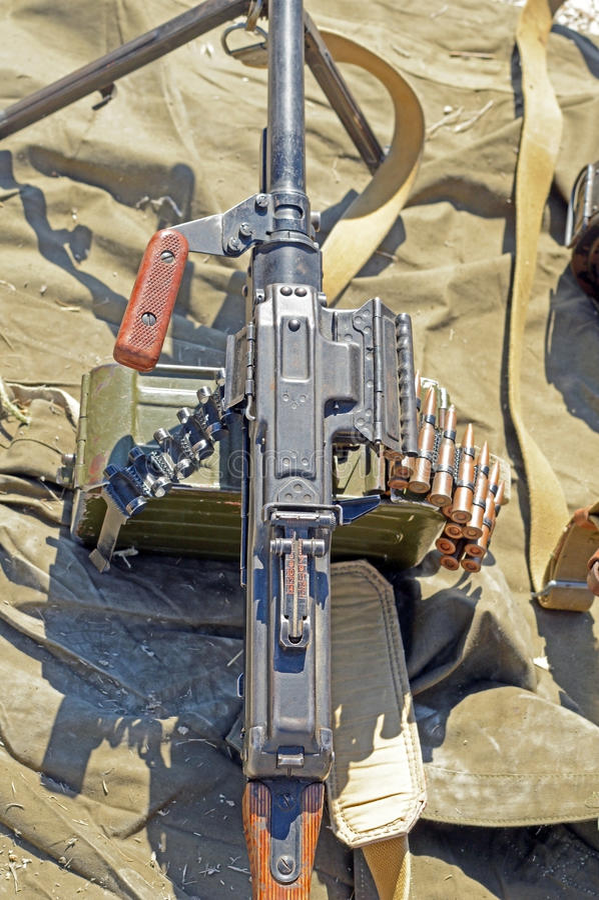 PK Machinegeweer stock foto's