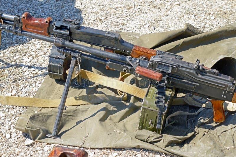 PK Machinegeweer stock foto