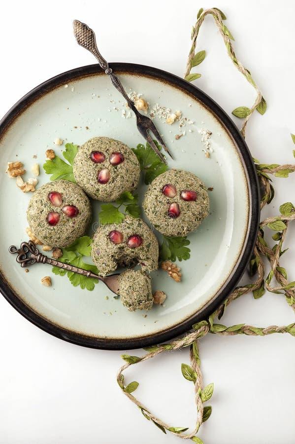 Pkhali cuisine traditionnelle g?orgienne photographie stock libre de droits
