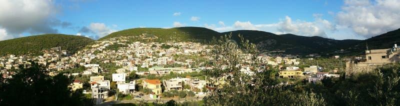 Pki'in-Panorama stockbild
