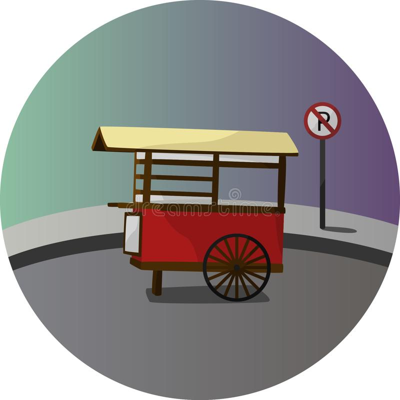 Traditional Street Food Stand royalty free illustration