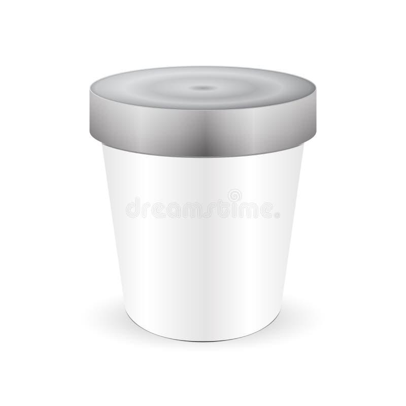 Plástico branco do alimento ilustração stock