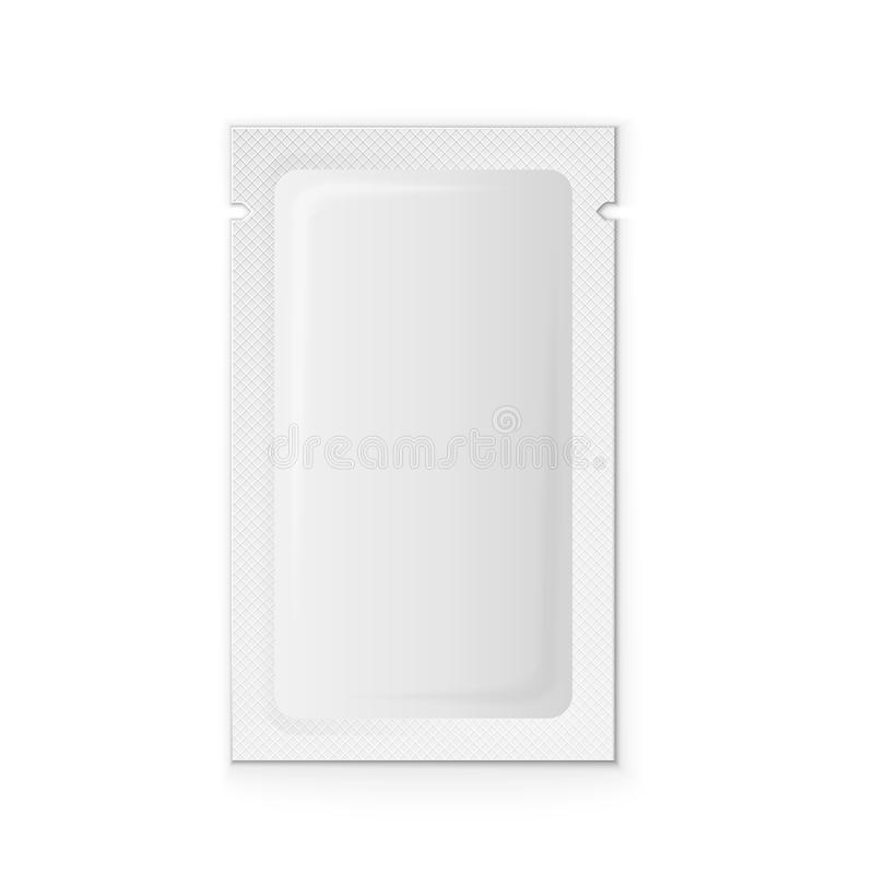 Plástico branco vazio ilustração royalty free