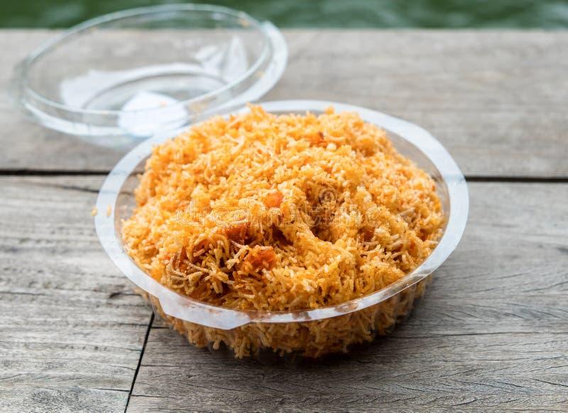 Plástico embalado pegajoso do alimento de petisco dos macarronetes friáveis foto de stock