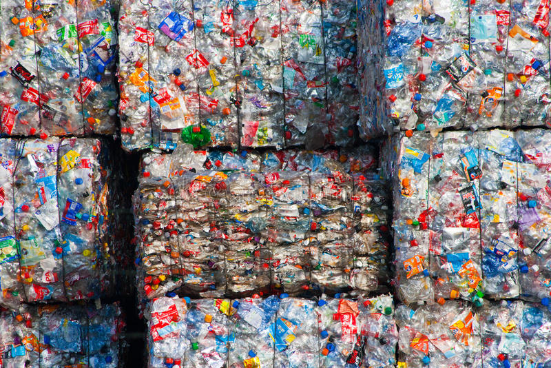 Plástico recicl foto de stock