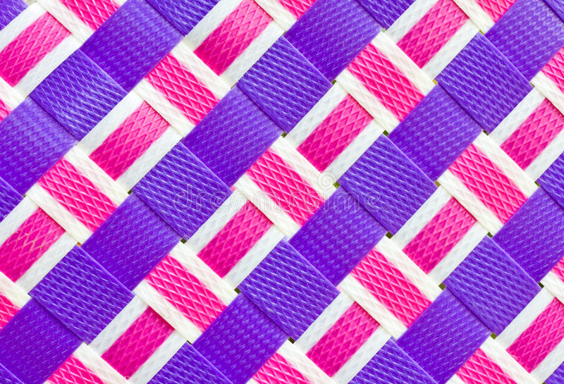 Plástico tejido colorido. imagen de archivo libre de regalías