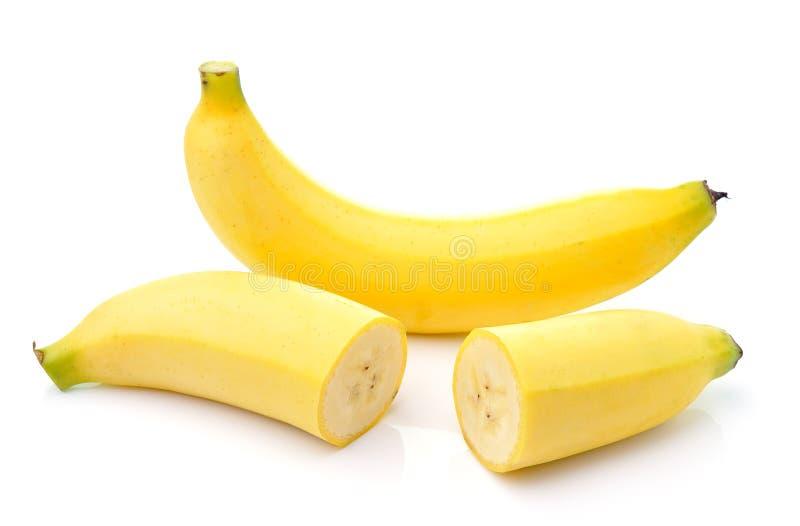 Plátano aislado en el fondo blanco imagen de archivo