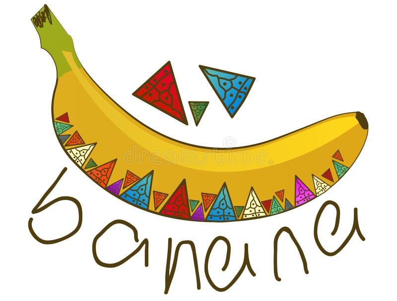 Plátano coloreado vector para los niños libre illustration
