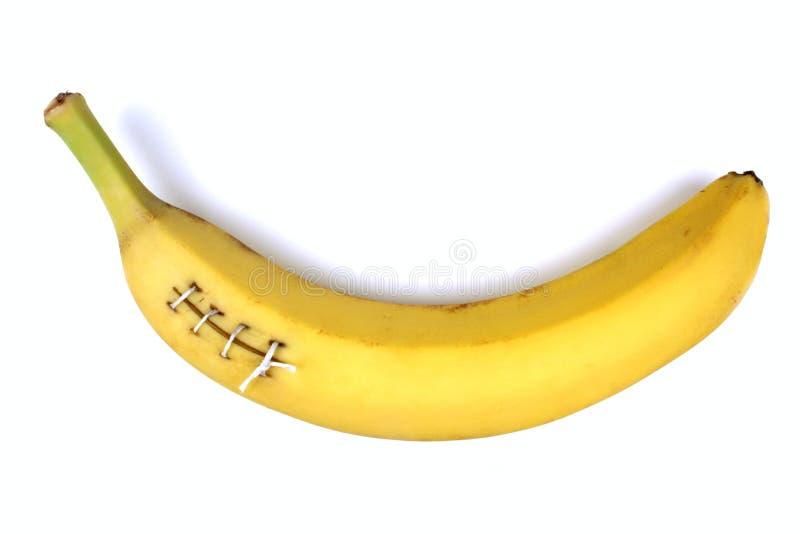 Plátano dañado cosido para arriba foto de archivo libre de regalías