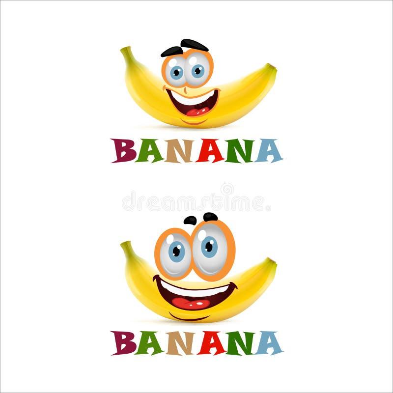 Plátano de la sonrisa con dos ojos grandes foto de archivo libre de regalías