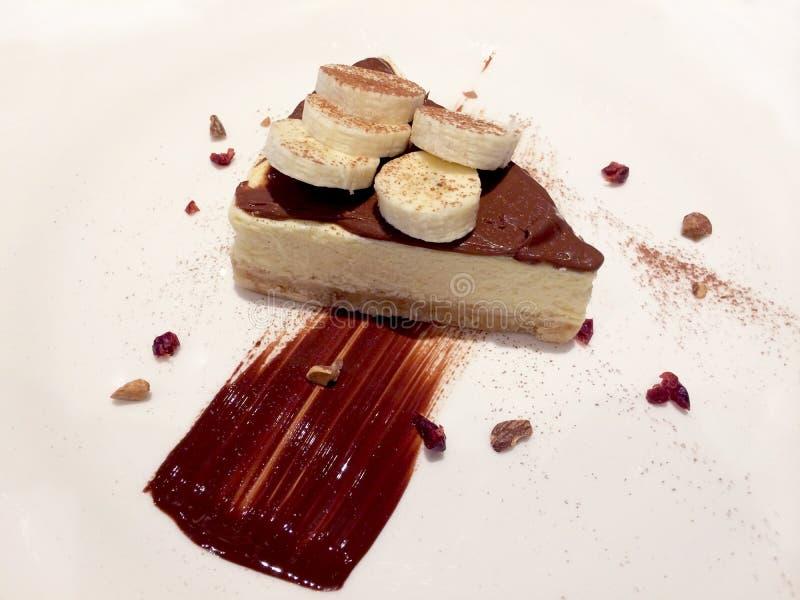 Download Plátano De La Torta Con El Chocolate Imagen de archivo - Imagen de café, dieta: 42430691