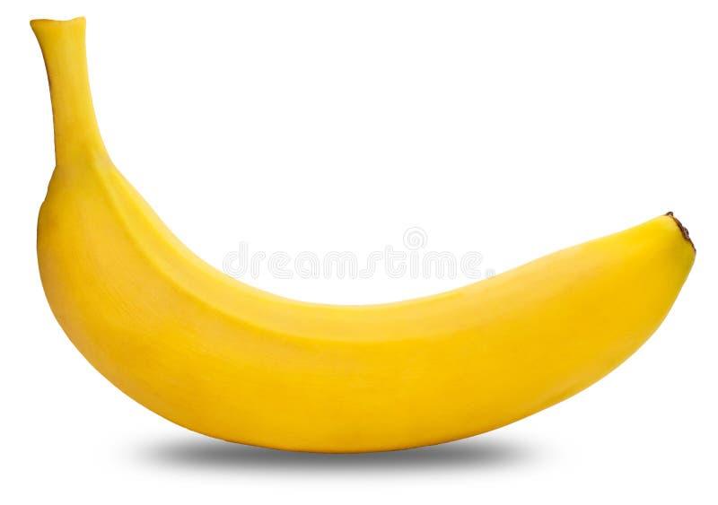 Plátano en un fondo blanco imagenes de archivo