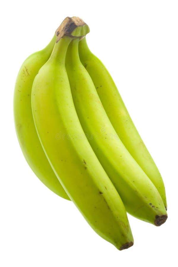 Plátano inmaduro fotos de archivo