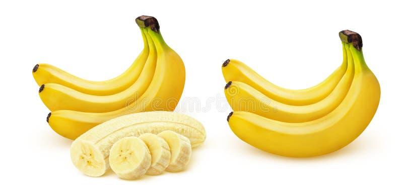 Plátano Manojo de plátanos aislados en el fondo blanco fotografía de archivo
