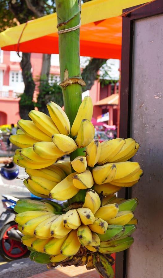 Plátano para la venta en la calle fotos de archivo