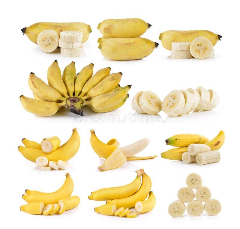 Plátanos en el fondo blanco imagen de archivo libre de regalías