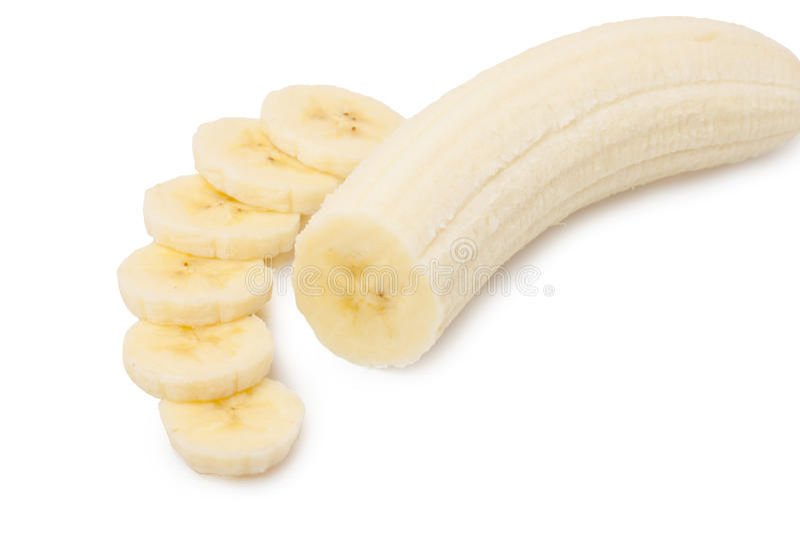 Plátanos rebanados fotos de archivo