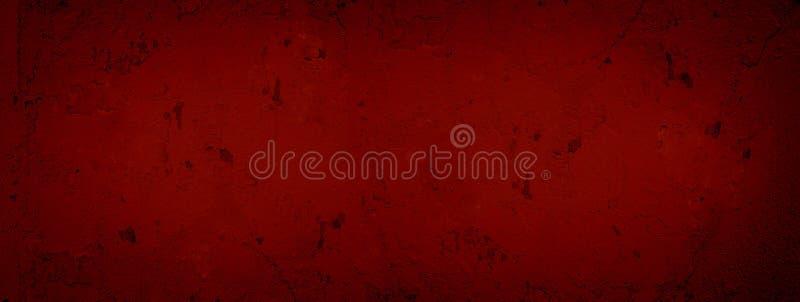 Plâtre criqué de fond texturisé abstrait rouge foncé Mur criqué de peinture rouge de texture Rouge Valenti de texture de mur de p images stock