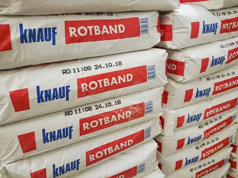 Plâtre de gypse de Rotband images stock