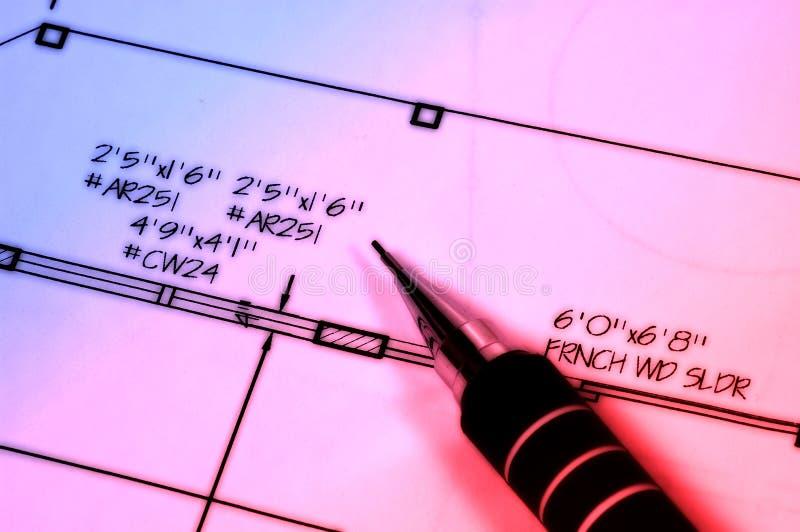 Download Pläne 2 stockbild. Bild von abmessungen, kompaß, unschärfe - 46905